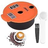 Cápsulas de Café Reutilizables para Tassimo, filtro de café Recargable, cápsulas de Café con Cuchara de Café y Cepillo Compatibles con Máquinas Tassimo de Bosch-s (180 ml)