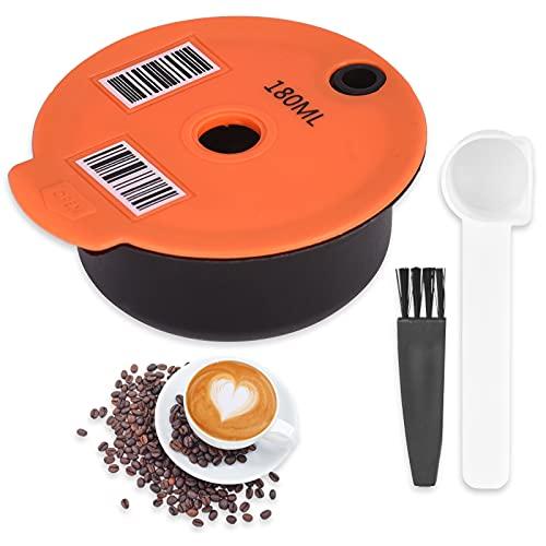 Cápsulas de Café Reutilizables para Tassimo, filtro de café Recargable, cápsulas de Café con Cuchara de Café y Cepillo...