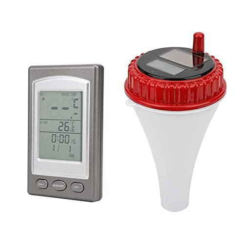 Sans fil flottant Thermomètre WiFi solaire Thermomètre, flottant Thermomètre de piscine solaire piscine à distance numérique eau hygromètre