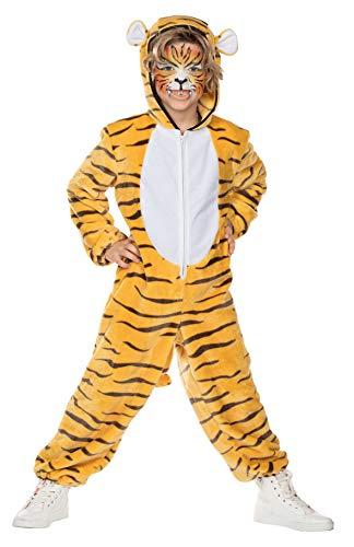 Rubie's Kinder Kostüm Bengalischer Tiger Amar Gr. 104-128 Overall Tier Fasching Karneval, 128, Multi-colored