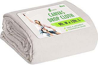 Drop Cloth Canvas Drop Cloth 9x12 Canvas Tarp Canvas Fabric Drop Cloth Curtains Drop Cloths for Painting Painters Drop Cloth Paint Drop Cloth Paint Tarp Painting Supplies Canvas Sheet