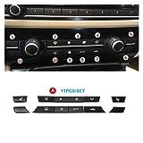 ZZJUN Xxjun Store Dashboard de la Consola de Calidad Botones de CA Caps Kit de reparación de reemplazo Ajustado para BMW 5 6 7 Serie F10 F18 F06 F12 F01 F02 520 523 (Color Name : Black Model A)