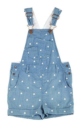 Sigikid Mädchen Latzshorts, Mini Latzhose, Blau (Denim Light Blue 590), 122
