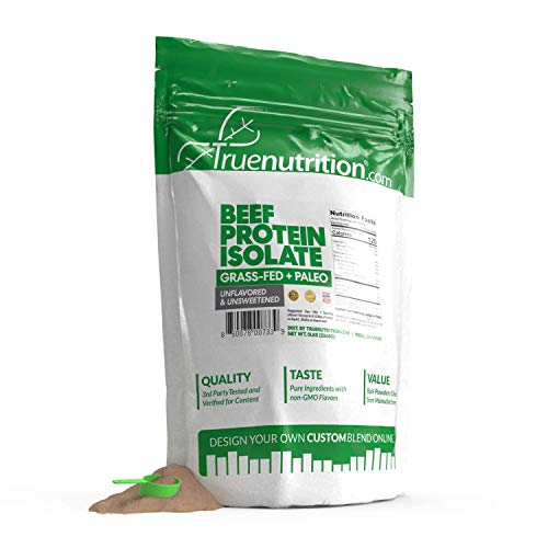 5LBS Unflavored Grass Fed Beef Protein Powder Isolate - Paleo, Keto, Carnivore, Sugar-Free, Lactose-Free - Customize Your Protein with Two Free TrueBoost or TrueFlavor Protein Shake Enhancements 1