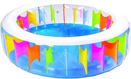 Innov Pratic Opblaasbaar zwembad, regenboog, reusachtig, 190 x 50 cm