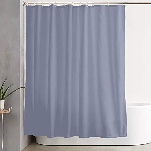 218 Zhenjil Duschvorhang, grau-blau, einfarbig, Heimdekoration, Duschvorhänge mit Haken, 152,4 x 182,9 cm