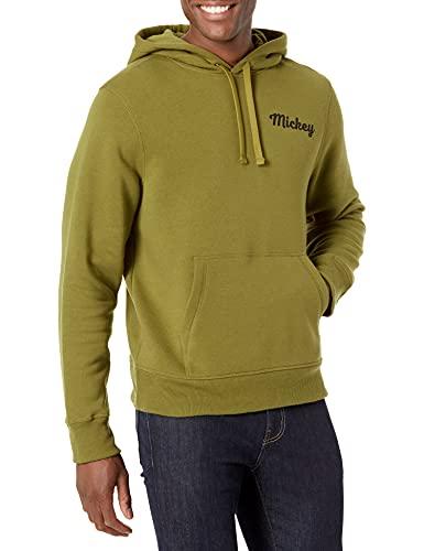 Amazon Essentials Disney Star Wars Marvel Fleece Pullover Hoodie Sweatshirts Sudadera, Mickey Silhouette, M