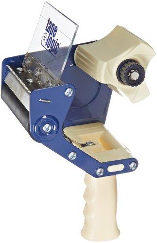 """Tape Logic (1 Pack) Heavy-Duty Carton Sealing Tape Dispenser, 4"""", Blue/White"""