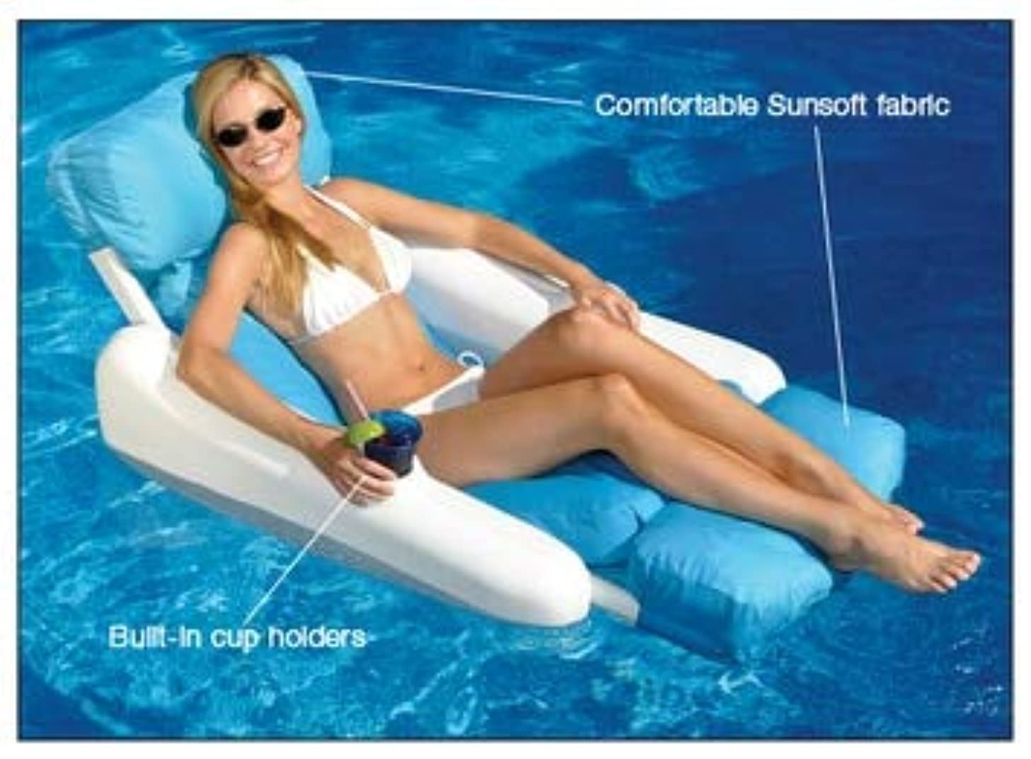 Sunchaser Sunsoft Luxury Lounger for Swimming Pool & Beach
