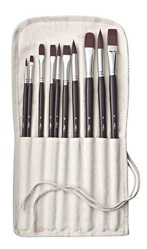 Jpc créations - Set di 10 pennelli, colore: Marrone
