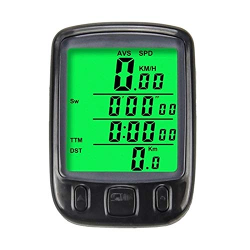QuRRong Computadora para Bicicleta Bicycle Speedometer Impermeable Wireless Cycle Computer Computer Bicycle odómetro con Pantalla LCD para Bicicleta de Carretera MTB (Color : Black, Size : One Size)