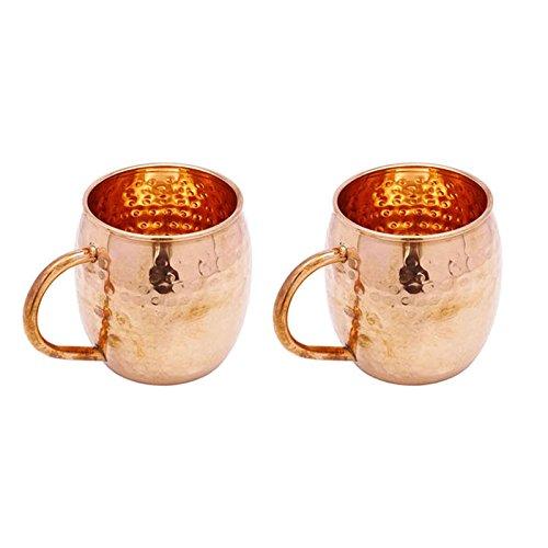 Indianbeautifulart 1 Taza de Cobre de par Vajilla Utensilios de Cocina Accesorios de la Barra Moscow Mule Vasos Copa