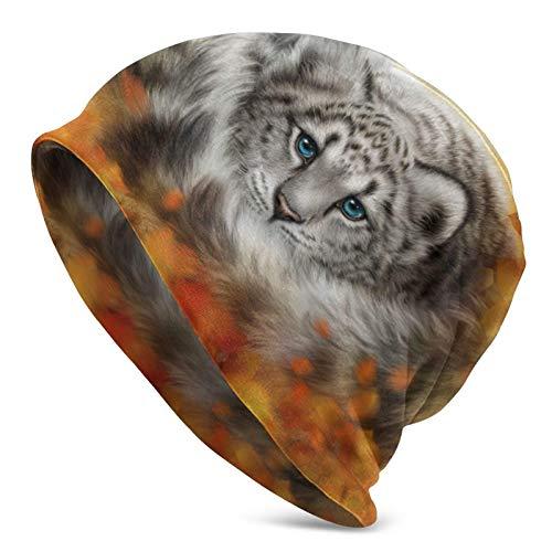 QUEMIN Bolsas Varios tamaños Leopardos de Las Nieves Lobos Pintura Arte de ovejas Gorro de Calavera Gorro elástico Gorros Holgados Sombreros de Moda de Punto de Invierno para Mujeres Hombres