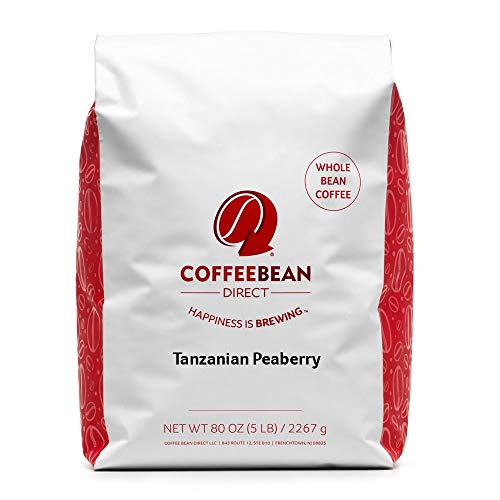 Tanzanian Peaberry, Whole Bean Coffee, 5-Pound Bag