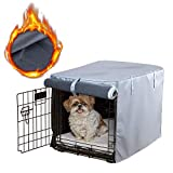 Mr.You Pets Dog Indoor/Outdoor Crate Covers, All-Weather Protection with Four Sides Open Zipper and Six Fastened Straps(36 inch,Cashmere Fabrics)