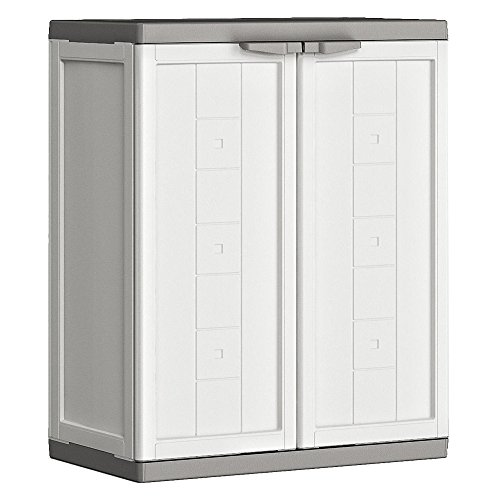 Kis Kunststoffschrank'Jolly' niedrig, 1 Stück, weiß/grau, 9733000 0447 01