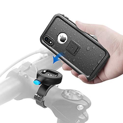 Cozycase Handyhalterung Fahrrad mit iPhone XR wasserdichte Hülle, stabile Motorrad Handyhalterung aus Metall,nur kompatibel mit iPhone XR(6,1
