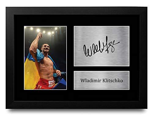 HWC Trading Wladimir Klitschko Gifts gedrucktes Autogramm für Box-Fans, A4, gerahmt