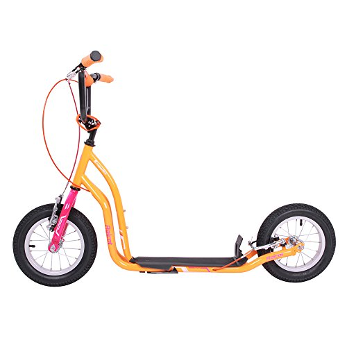 WORKER Tretroller Raicot SE 12 Zoll Scooter pink-orange