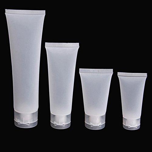 5 x Tuben Squeeze Kosmetik Creme Lotion Kunststoff Reise Flasche leere Behälter Beauty Tool