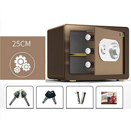 Caja fuerte de seguridad, caja fuerte de acero montada en la pared, mecánica, ignífuga y antirrobo, pequeña caja de seguridad para archivos de efectivo de 25 cm / 30 cm / 40 cm, adecuada para oficina