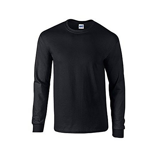 Gildan - T-Shirt à manches longues - Homme noir noir Medium