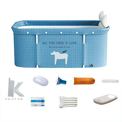 SHARRA Tragbare Klappbadewanne Stehende Badewanne für Erwachsene Badewannen- & Duschsysteme für Familie Badezimmer Dusche Indoor-Spa-Badewanne