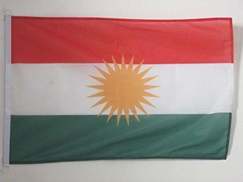 AZ FLAG Flagge Kurdistan 150x90cm - KURDEN Fahne 90 x 150 cm Aussenverwendung - flaggen Top Qualität