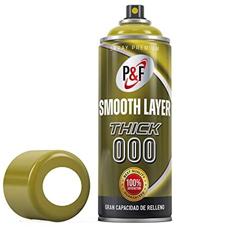Smooth Layer, filler primer, aparejo alto espesor, imprimación en spray para impresión 3D, imprimación para plásticos, imprimación para plásticos spray ,postprocesado pla (THICK 000_Blanco)