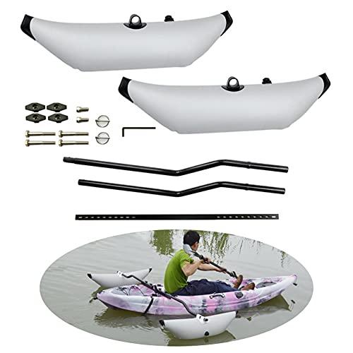DINGYU Stabilisateur de Bateaux de pêche, boutonnant Gonflable en PVC Kayak Flottant avec Tige de...