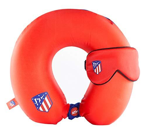 Atletico DE Madrid Pack Cojin y Antifaz Viaje AT