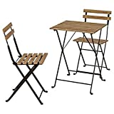 GXK Esstisch Mit Stühlen Gartentisch&2 Stühle Akazie Massiv Klappbar Esstisch Holztisch Balkontisch