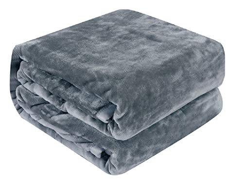 Luxury Collection Microplush Flannel Fleece Blanket | Ultra Soft 380 GSM Lightweight All-Season...