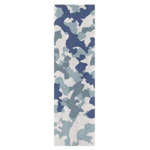 Camuflaje Piedra De Mármol Azul Marino Monopatín Papel de Lija Antideslizante Hoja Cinta de Agarre Lijas para Patineta Scooter Etiquetas engomadas (84 x 23 cm)