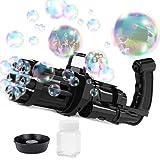 NSGJUYT Seifenblasen-Maker, 8-Loch-Gatling-Blasen-Pistole, automatische Seifenblasenmaschine für...