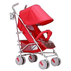 BHDesign Baby Stroller Can Sit Horizontal Portable Folding 4 Wheel Suspension Umbrella Car Travel Four Seasons Universal One Key Folding   3