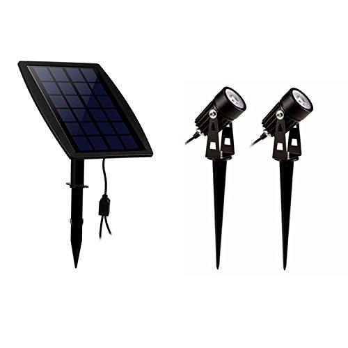 LED Solar Gartenleuchte,Solarbeleuchtung Spotlight superhelle LED solarspot warmweiß außenbeleuchtung strahler Outdoor Spotlight Flutlicht