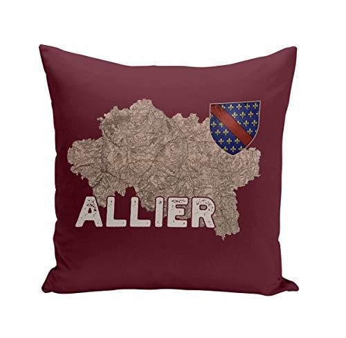Fabulous Coussin 40x40 cm Allier 03 Departement Laon Carte Ancienne Hauts de France