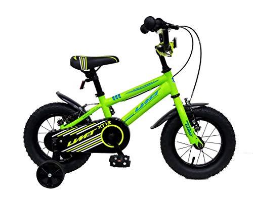 Ümit Bicicleta 12' XT12, Juventud Unisex, Verde Pistacho/Azul, Mediano