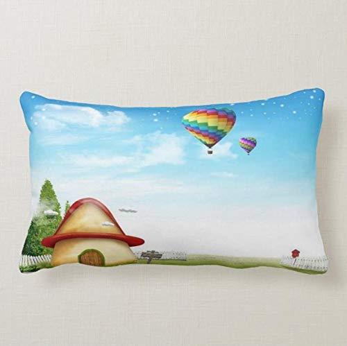 perfecone Home Improvement funda de almohada muralFunda de almohada para sofá y coche, 1 paquete de 19.68 x 25.6 pulgadas / 50 cm x 65 cm