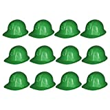 Green Construction Hats - 12 Pack