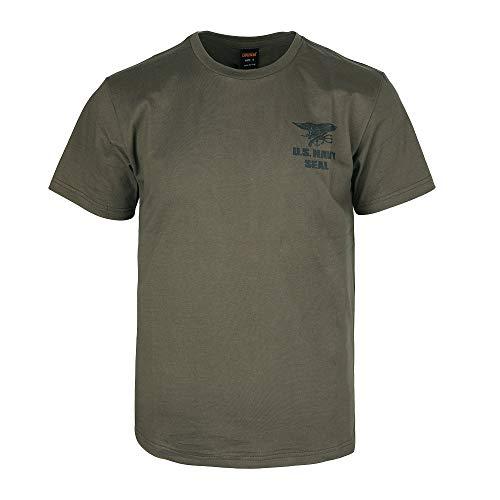 EXCELLENT ELITE SPANKER Männer Casual T-Shirt US Army Seal Original Navy Seals T-Shirt(Ranger grün-L)