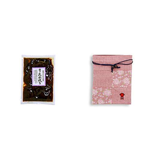 [2点セット] 国産 極上たれ絞り(250g)・おねがいさるぼぼ 巾着【ピンク】