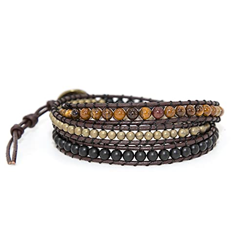WLLLTY Ladies Bracelet New Gemstone Bracelet Multilayer Beaded Bracelet Fashion Women Bracelet Gift