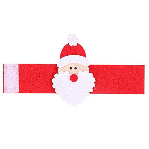 12 * kerstversiering levert kerstman handdoek ring niet-geweven stof armband sfeer decoratie