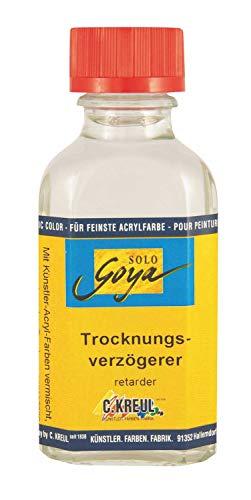 Kreul 8565-50ML - Solo Goya Künstler - Acryl - Trocknungsverzögerer in 50 ml Flasche, verzögert den Trocknungsprozess, Farben länger vermalbar