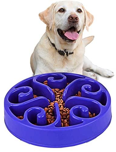 Ciotole per Cani Gatto - Ciotola per Cani ad Alimentazione Mangiare Lenta, Ecologica Durevole Non tossico Prevenire soffocamento Rallentare Alimenti Ciotola per Alimenti per Gatti Ciotola (Blu 2)