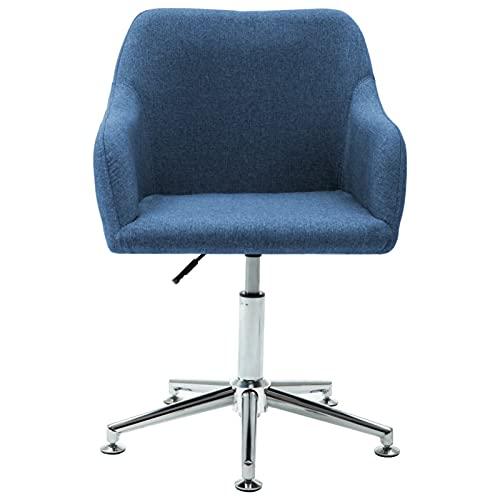 Tidyard Bürostuhl Drehstuhl Schreibtischstuhl Bürosessel Chefsessel Computerstuhl Stuhl Stoff Blau