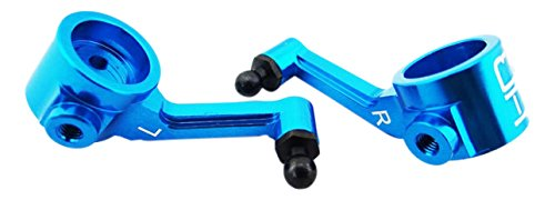 Hot Racing ECT2106 Aluminum Steering Blocks (Blue) - ECX 2WD