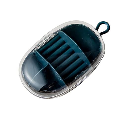 DIOUS Caja de Almacenamiento Joyas, Resistente al Agua y a la Humedad diseño Doble Capa Gran Capacidad, para Regalos navideños,Verde